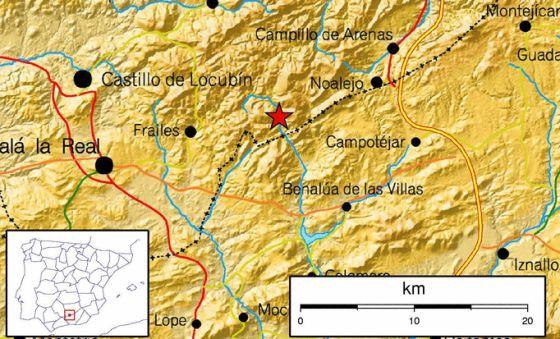 Epicentro del terremoto.