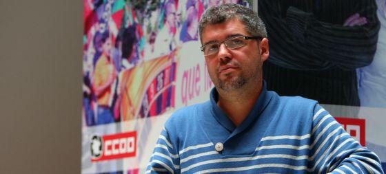 Unai Sordo, secretario general de CC OO de Euskadi, en la sede del sindicato en Bilbao.