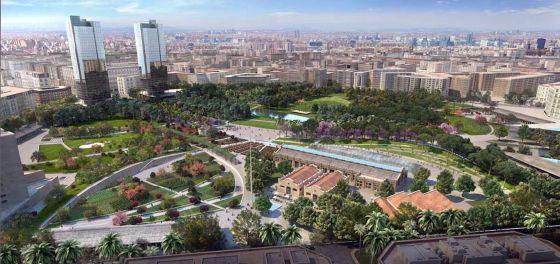 magen virtual del Parque Central que ha diseñado Katryn Gustafson.