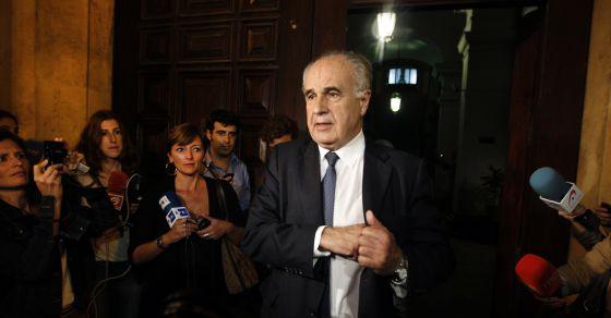 El exconsejero Rafael Blasco, tras declarar el pasado octubre en el TSJ.