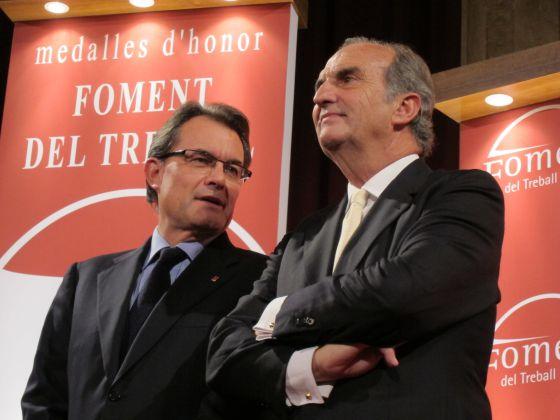 Artur Mas y Joaquim Gay de Montellà, el pasado noviembre.