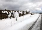 La nieve cubre Els Ports y la temperatura cae nueve grados