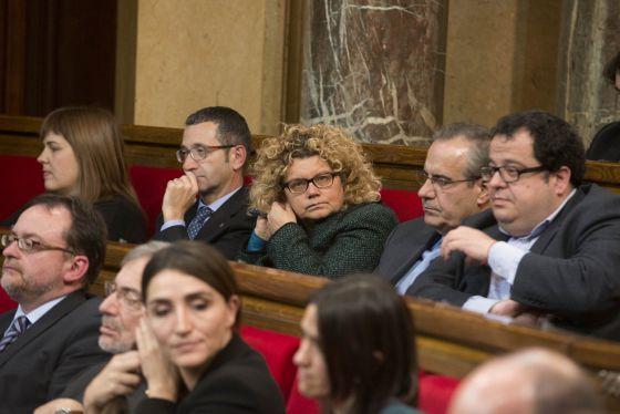 Arriba a la izquierda, Núria Ventura; en el centro, Marina Geli; a la derecha, Joan Ignasi Elena; y abajo, Rocío Martínez Sampere.
