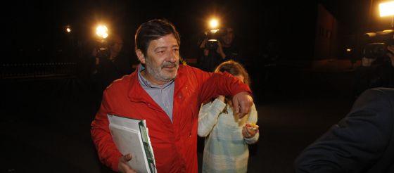 El ex director general de Trabajo, Javier Guerrero, a su salida de la cárcel.