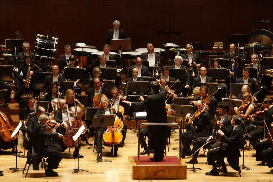 La Orquesta Sinfónica de Euskadi, en un concierto en el Euskalduna.