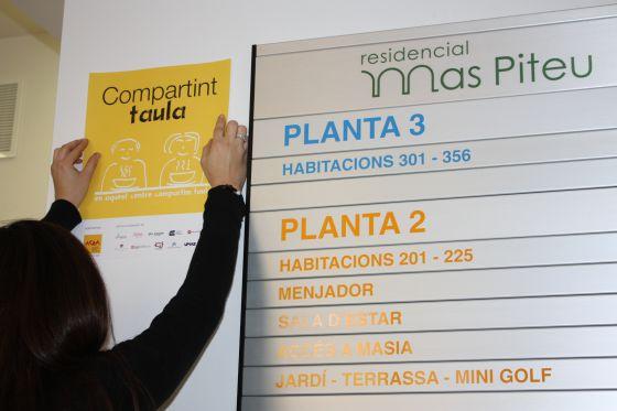 La residencia Mas Pineu (Barcelona) es una de las 166 que participa en la campaña 'Compartint taula'.