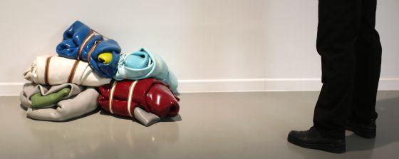 La obra 'Penta Pack', del artista Guillermo Mora.