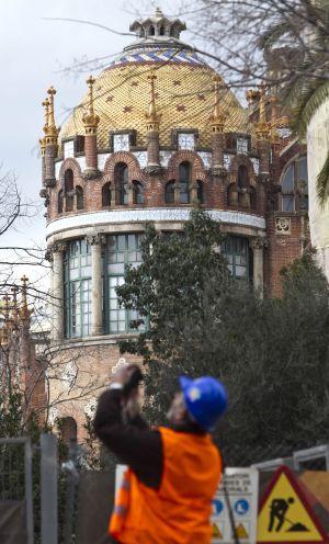 Edificios del recinto histórico modernista del hospital de Sant Pau.