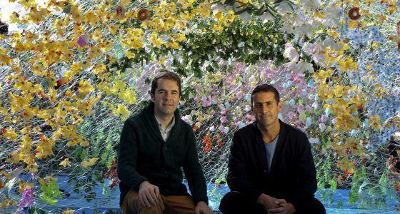 Andrés Jaque y Federico Herrero, ayer en la terraza de La Casa Encendida.