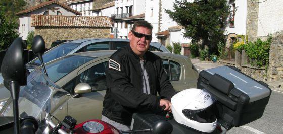 Agustí Fancelli, en ruta per Navarra l´estiu del 2012.