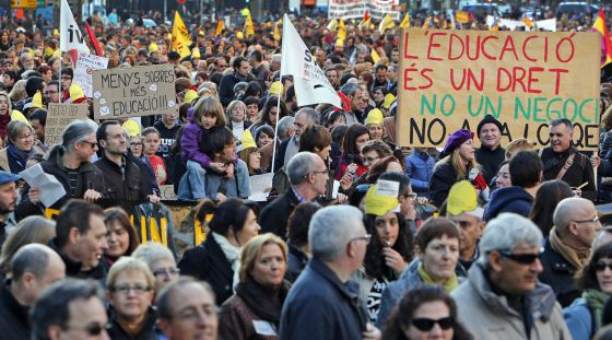 Manifestación contra la 'ley Wert' y los recortes en Valencia.