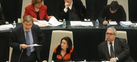 Lissavetzky, esta mañana en el pleno del Ayuntamiento.