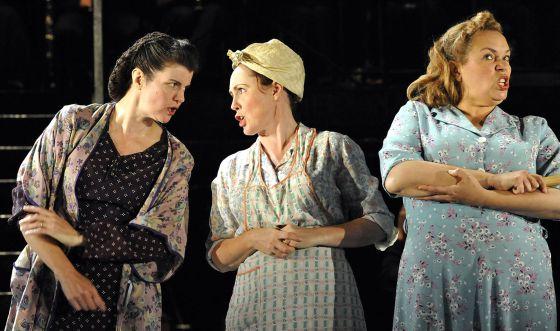 Un momento de la representación de la ópera de Weill.