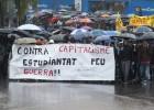 Movilizaciones estudiantiles bajo la lluvia y con frío