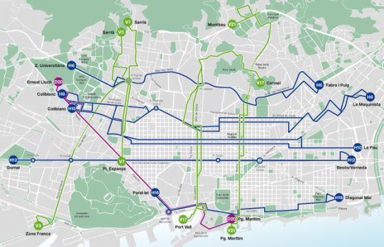 Nuevo mapa del autobús rápido
