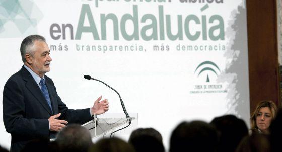 José Griñán y Susana Díaz, en la inauguración de las jornadas sobre transparencia.
