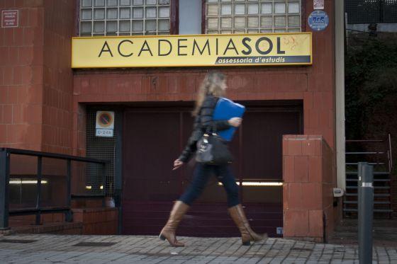 Uno de los centros de la Academia Sol, en Barcelona