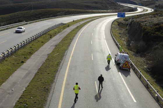 Obras en la autovía A-52 en Ourense
