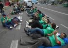 Concluye la marcha contra el recorte de profesores interinos
