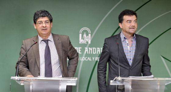 Diego Valderas y Antonio Maíllo, el pasado día 13 en un acto de la Junta.