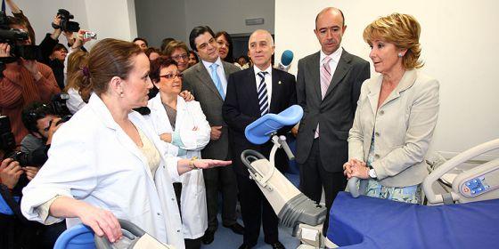 Aguirre y Lamela, en la inauguración del hospital del Tajo el 7 de abril de 2007.