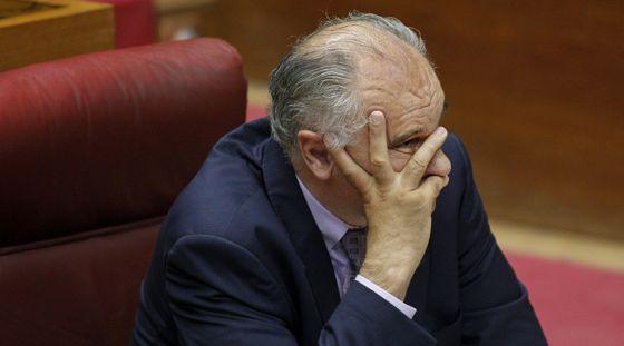 Rafael Blasco, en su escaño de las Cortes Valencianas.