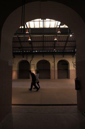 Interior del edificio de Tabacalera.