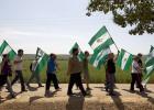 El SAT marcha contra la venta de tierras a compañeros