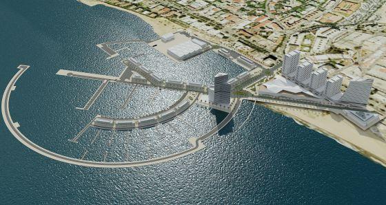 Recreación del proyecto del arquitecto José Seguí del puerto de La Bajadilla.
