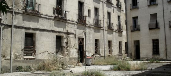La Casa de la Duquesa de Sueca antes del inicio de la demolición.