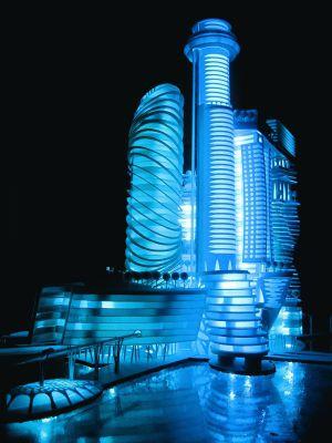 Imagen del proyecto de hotel que se quiere levantar frente a Barcelona.