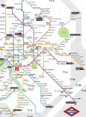El plano del metro que se reparte desde hoy.