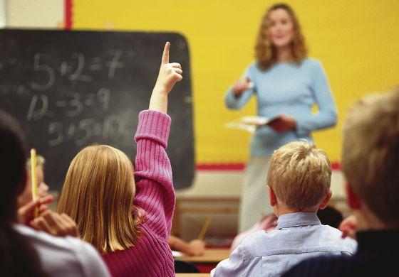 Alumnos en una clase de matemáticas