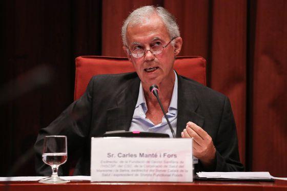 Carles Manté, exdirector del Servicio Catalán de la Salut.