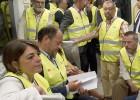 El primer viaje del metro de Málaga no entierra la polémica