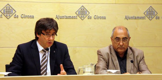 Carles Puigdemont y Joaquim Nadal.