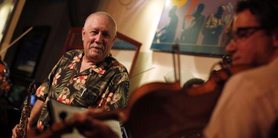 Paquito D'Rivera en un momento de su actuación con el Quinteto Cimarrón en el Café Central