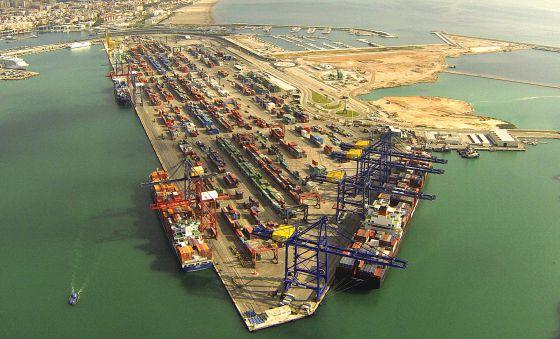 Imagen del puerto de Valencia.