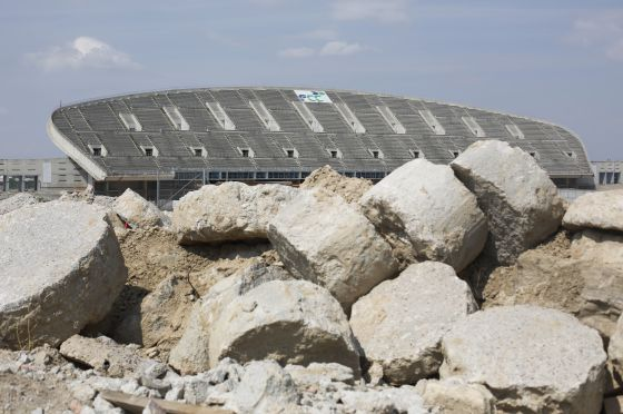 The current state of La Peineta Olympic Stadium.
