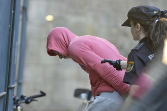 El acusado llegando a la cárcel