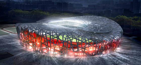 El estadio olímpico de Pekín, obra de Jacques Herzog y Pierre de Meuron.