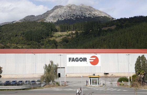 La planta de Fagor en Mondragón, sin actividad