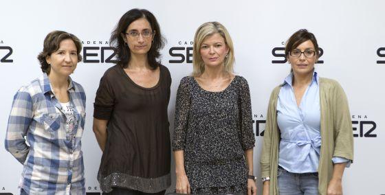 Estefanía Navarrete, Pilar Gil, Gabriela Bravo y Cristina Nadal participaron en el debate sobre violencia de género.