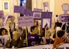 Las feministas protestan contra la ley del aborto de Gallardón
