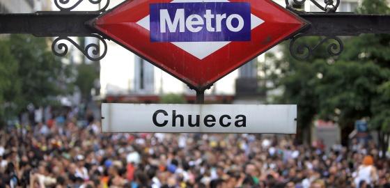 La plaza de Chueca, en las fiestas del Orgullo Gay.