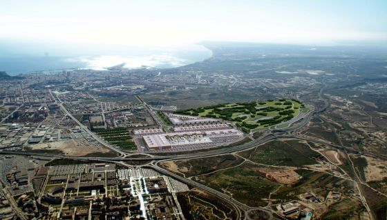 Aerial view of the IKEA Alicante site