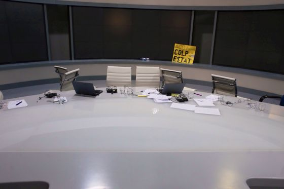 Estudios de los informativos de Canal 9.