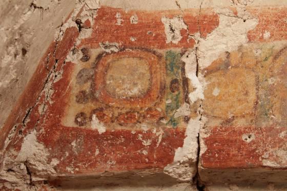Escritura jeroglífica maya hallada en Chilonché.