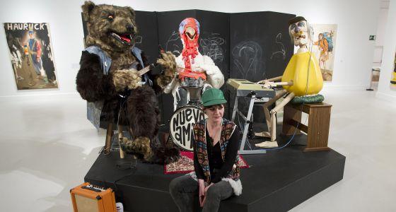 La artista Kati Heck, en una de las salas del CAC Málaga.