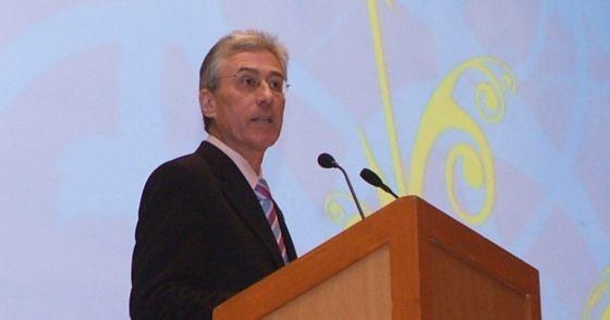 Sebastián Cano, durante un acto como viceconsejero.